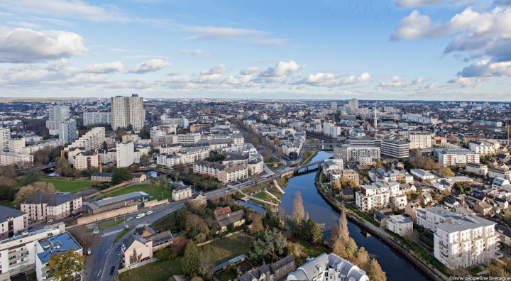 Rennes vue du ciel